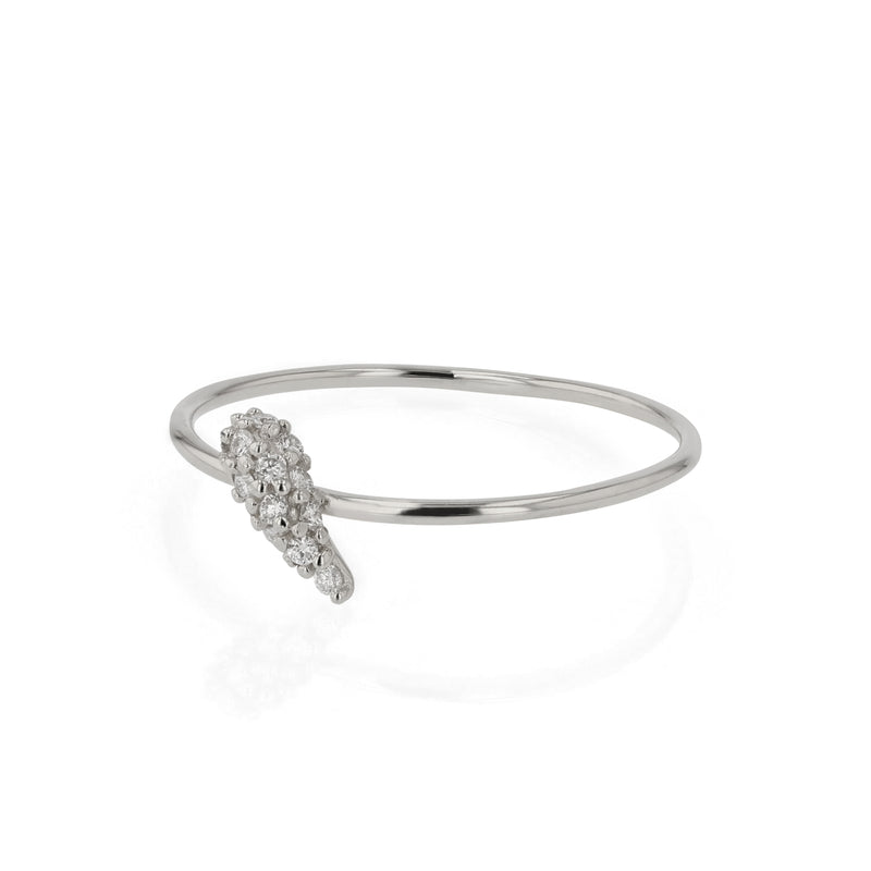 Fine Nudi Diamond Pave Ring White Gold | Sarah & Sebastian
