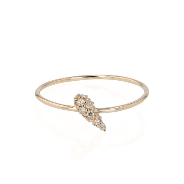 Fine Nudi Diamond Pave Ring Gold | Sarah & Sebastian