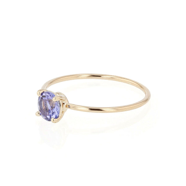 Round Tanzanite Pin Ring | Sarah & Sebastian