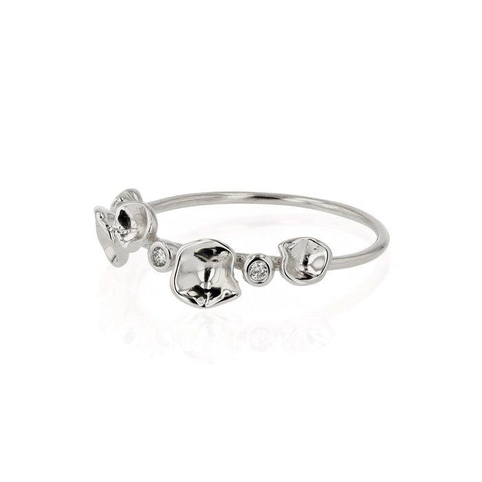 Oyster Bed Diamond Ring Silver | Sarah & Sebastian