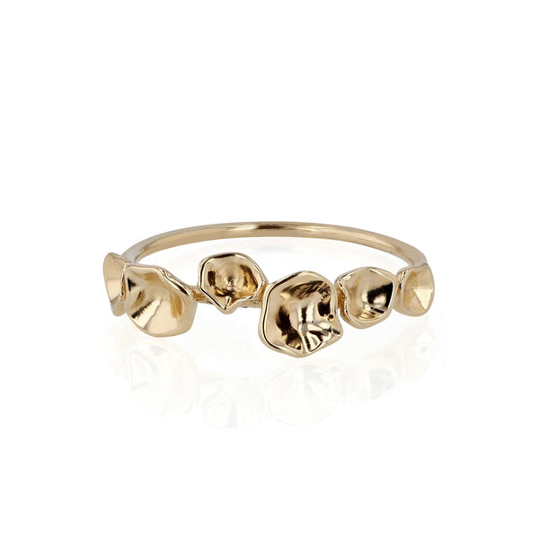 Oyster Bed Ring Yellow Gold | Sarah & Sebastian