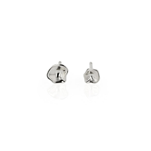 Oyster Stud Earrings Silver | Sarah & Sebastian