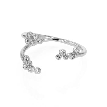 Papilla Diamond Open Ring White Gold | Sarah & Sebastian