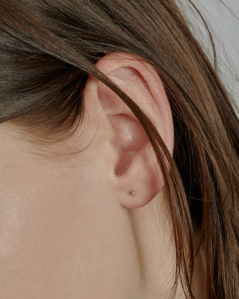 Petite Diamond Earrings Gold | Sarah & Sebastian onBody