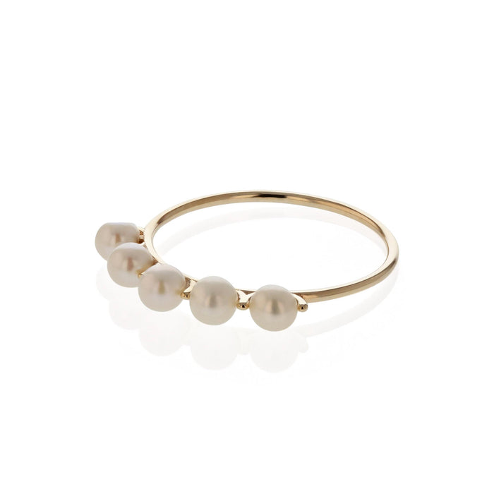 Phoebe Perle Ring Yellow Gold | Sarah & Sebastian