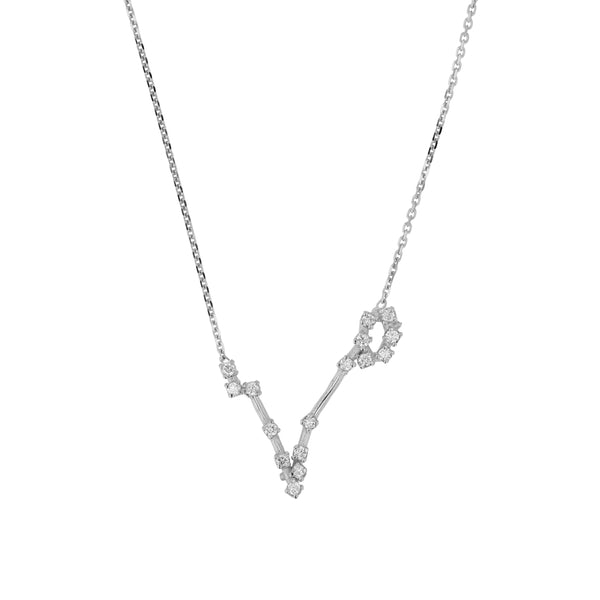 Celestial Pisces Necklace White Gold | Sarah & Sebastian