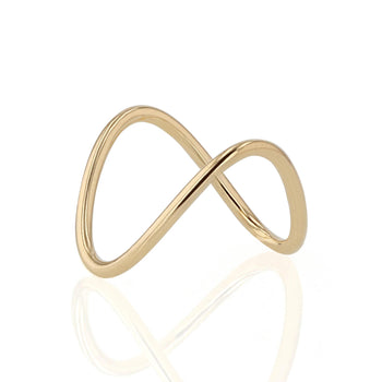 Curved Plain Heirloom Ring Yellow Gold | Sarah & Sebastian