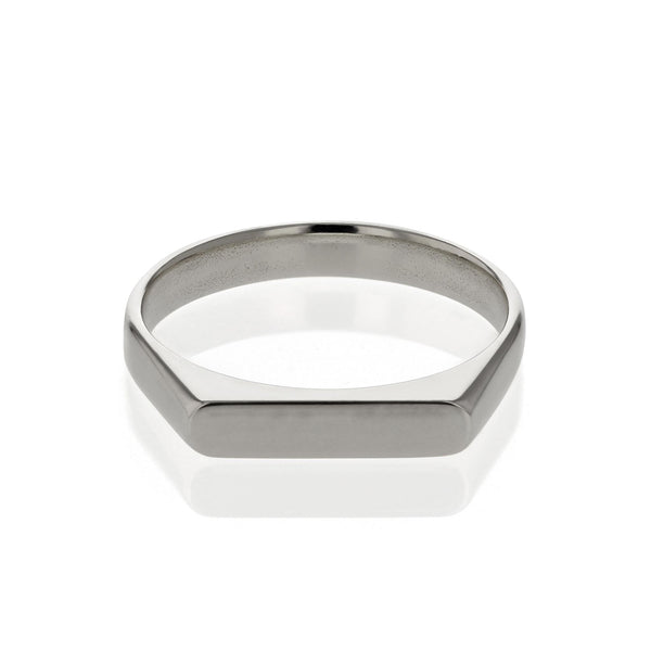 Plain Unity Ring White Gold | SARAH & SEBASTIAN