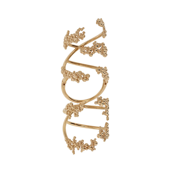 Statement Papilla Hinge Ring Gold | Sarah & Sebastian