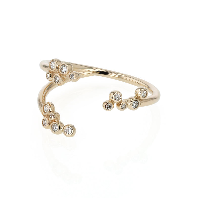 Papilla Diamond Open Ring Gold | Sarah & Sebastian