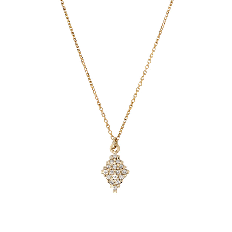 Rhombus Diamond Necklace Yellow Gold | Sarah & Sebastian