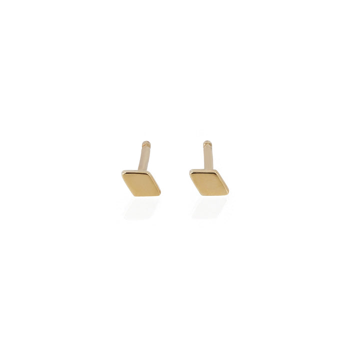 Fine Rhombus Earrings Yellow Gold | Sarah & Sebastian