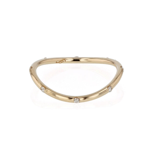 Round Curve 08 Ring Yellow Gold | SARAH & SEBASTIAN