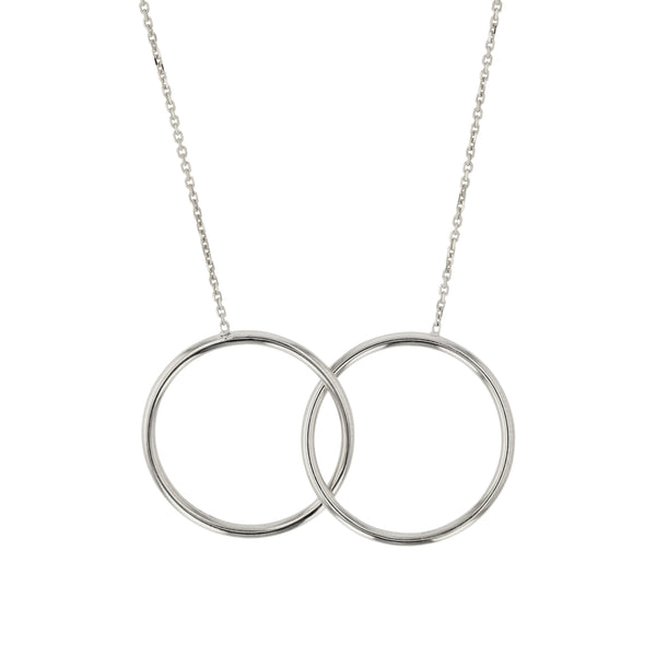 Interlocking Ringed Necklace Silver | Sarah & Sebastian