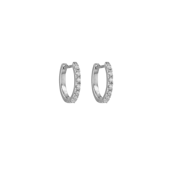 Diamond Salt Earrings White Gold | Sarah & Sebastian