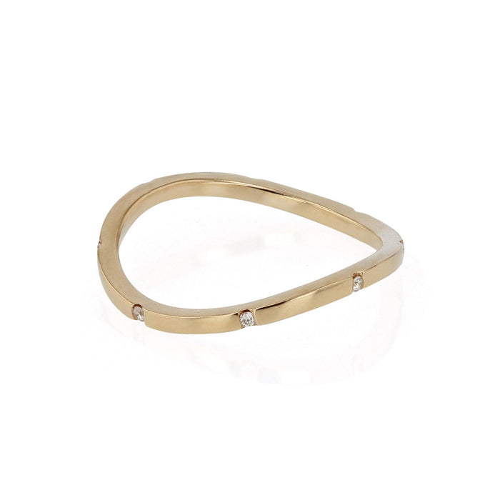 Square Curve 08 Ring Yellow Gold | SARAH & SEBASTIAN