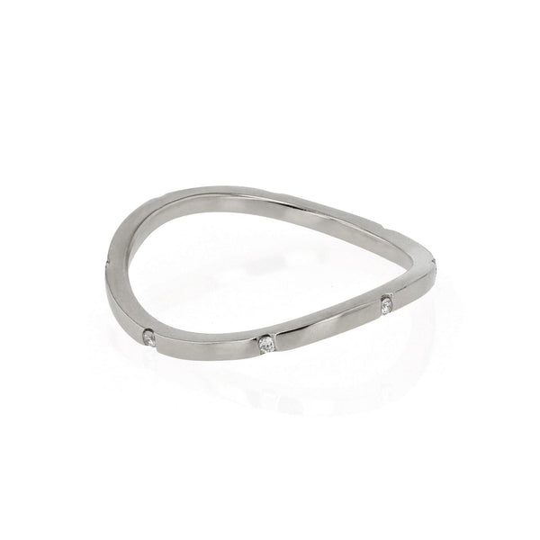 Square Curve 08 Ring White Gold | SARAH & SEBASTIAN