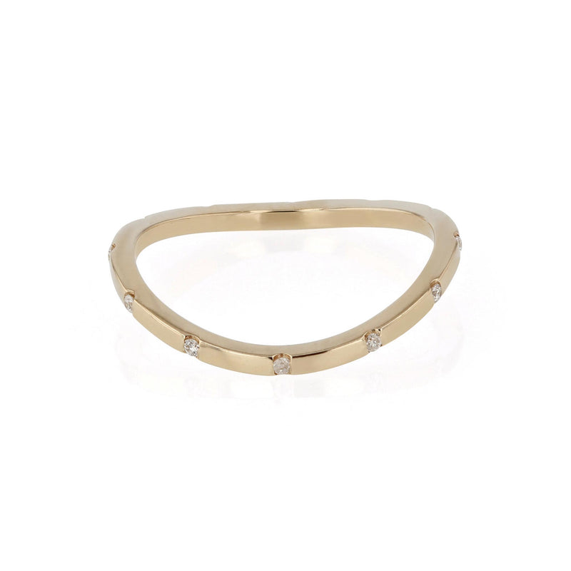 Square Curve 12 Ring Yellow Gold | SARAH & SEBASTIAN