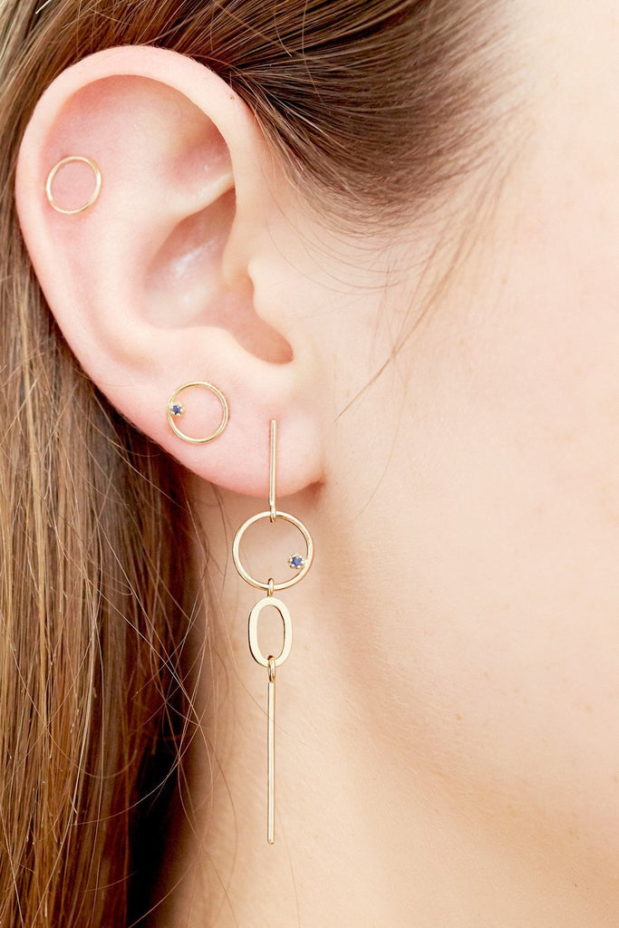 Style: Styled in this image with: | stone-bubble-earring-gold