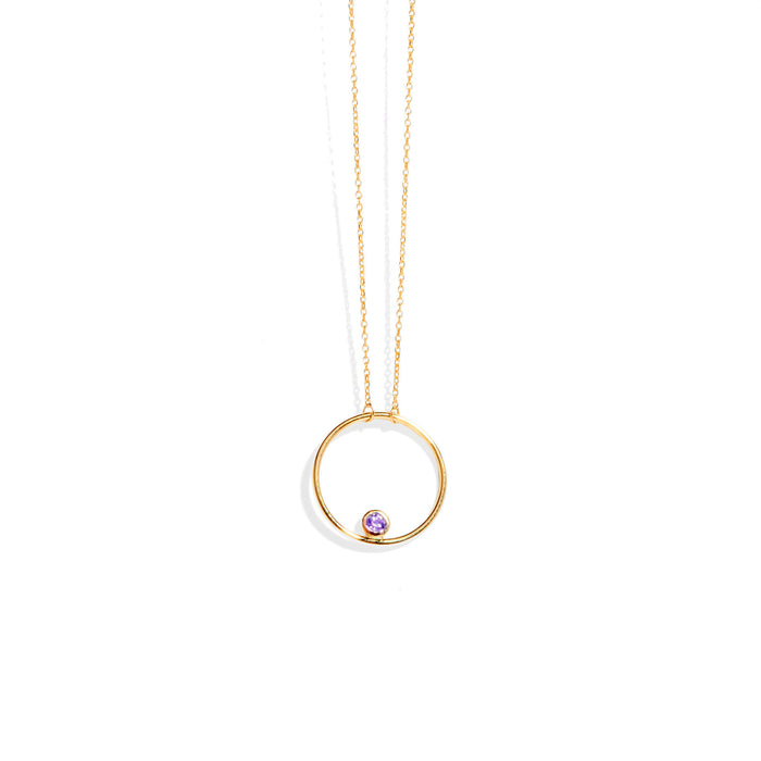 Stone Solar Fine Chain Necklace Gold |SARAH & SEBASTIAN