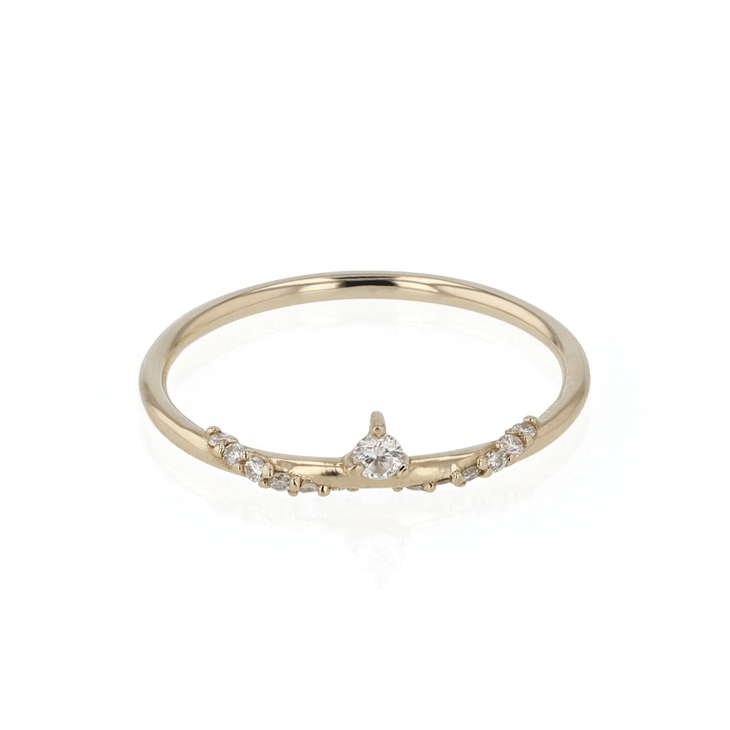 Sepal Wrap Diamond Ring