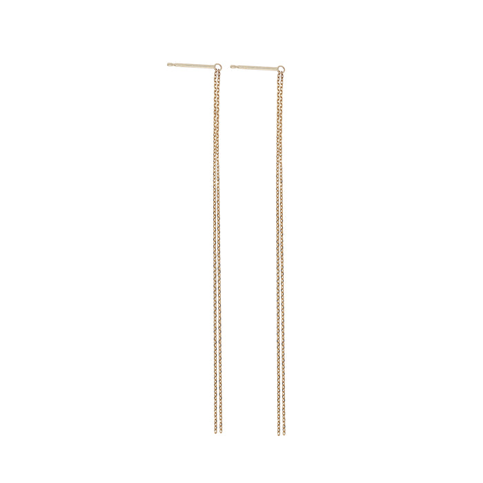 Should Chain Earrings Yellow Gold | Sarah & Sebastian