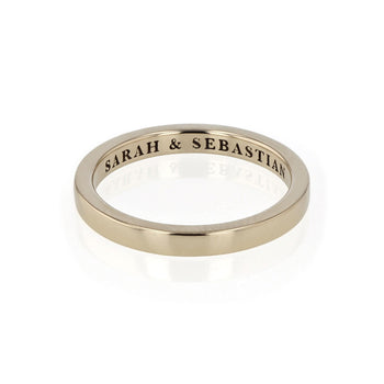 Solid Channel Ring Gold | Sarah & Sebastian