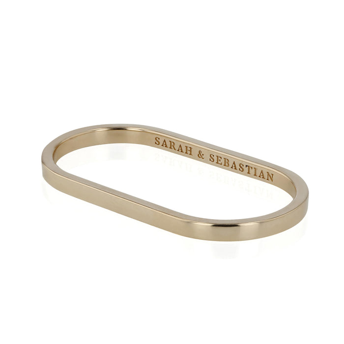 Solid Channel Two Finger Ring | Sarah & Sebastian