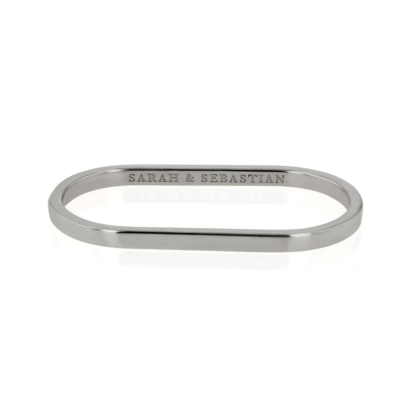 Solid Channel Two Finger Ring Silver | Sarah & Sebastian
