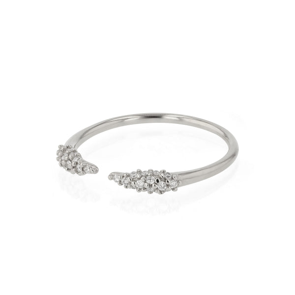 Stinger Open Diamond Pave Ring Gold | Sarah & Sebastian