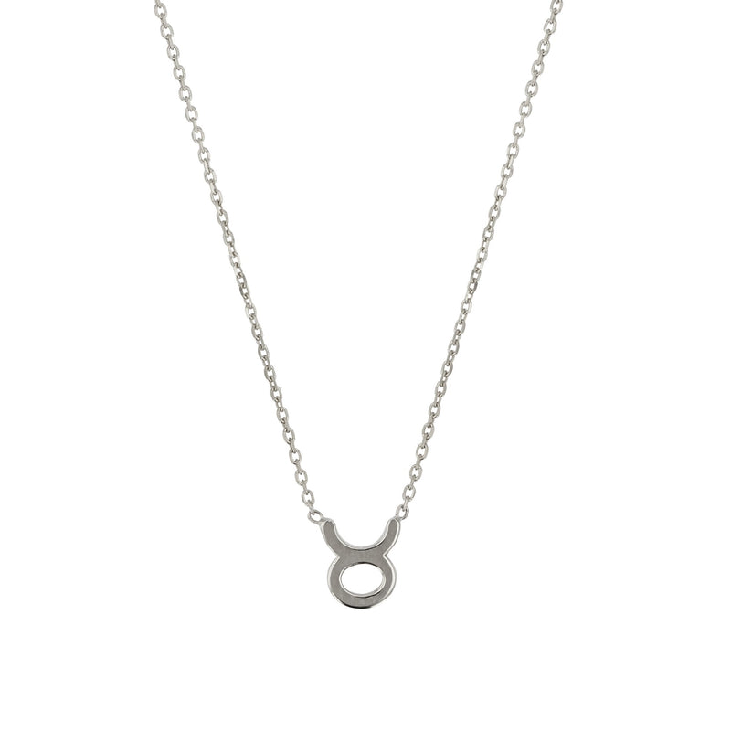 Zodiac Fine Chain Necklace White Gold | SARAH & SEBASTIAN