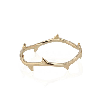 Fine Thorn Ring Yellow Gold | Sarah & Sebastian