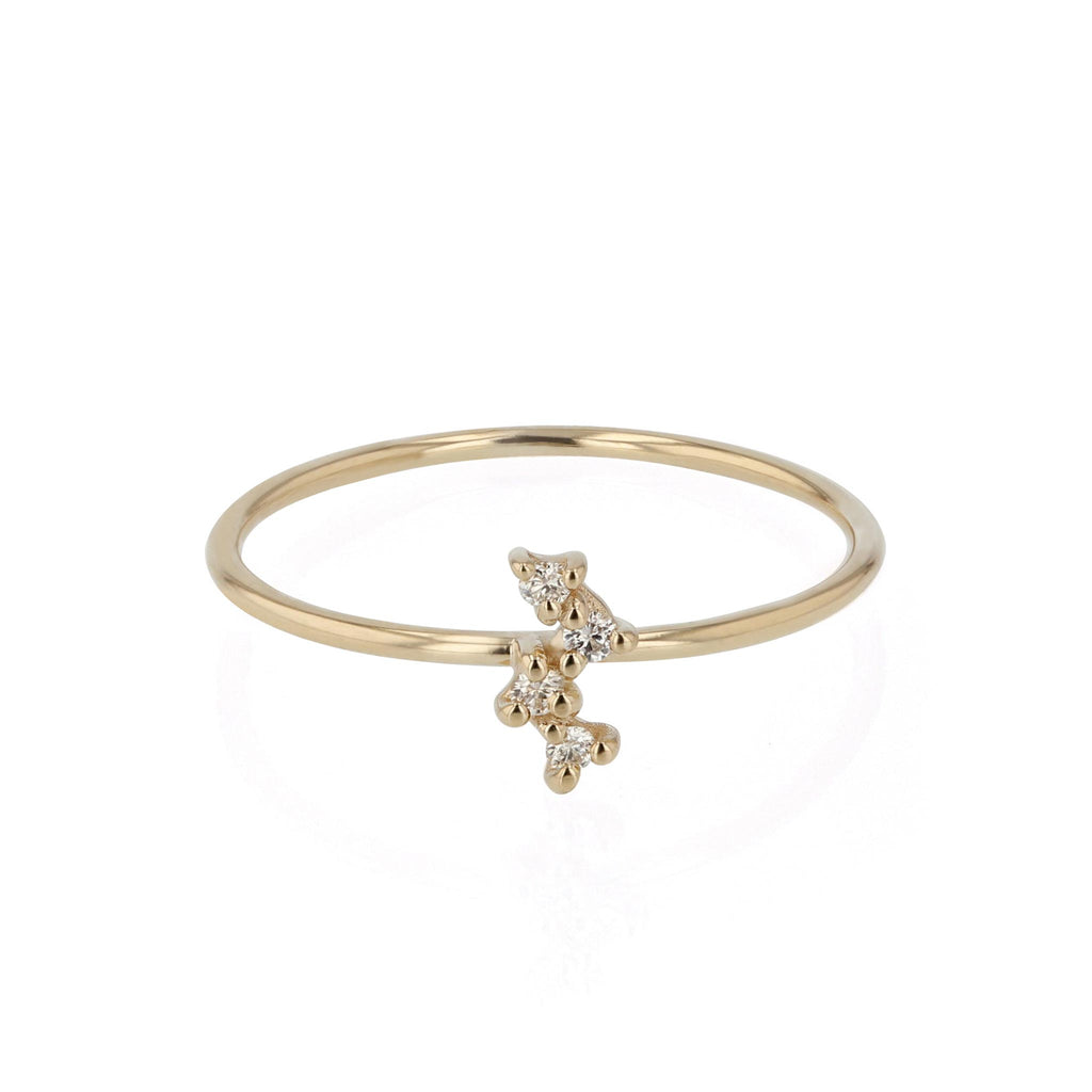 Tiny Cluster Diamond Ring