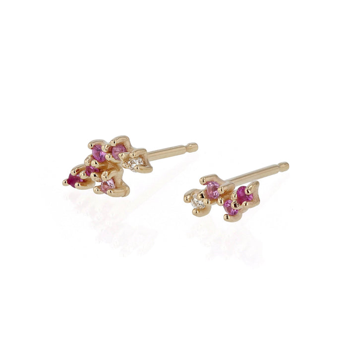Pink Tiny Cluster Earrings Gold | Sarah & Sebastian