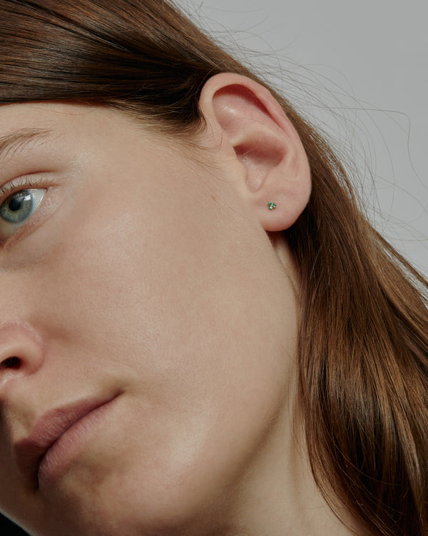 Trio Emerald Earrings Gold | Sarah & Sebastian onBody