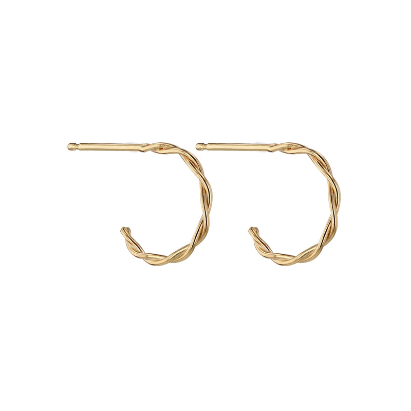 Twine Hoops Yellow Gold | Sarah & Sebastian