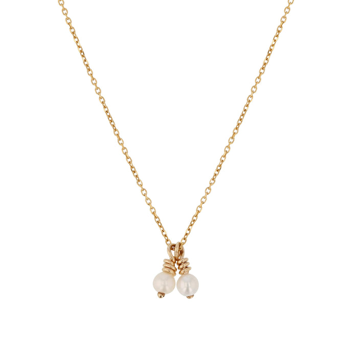 Two Perle Fine Chain Necklace Yellow Gold | SARAH & SEBASTIAN