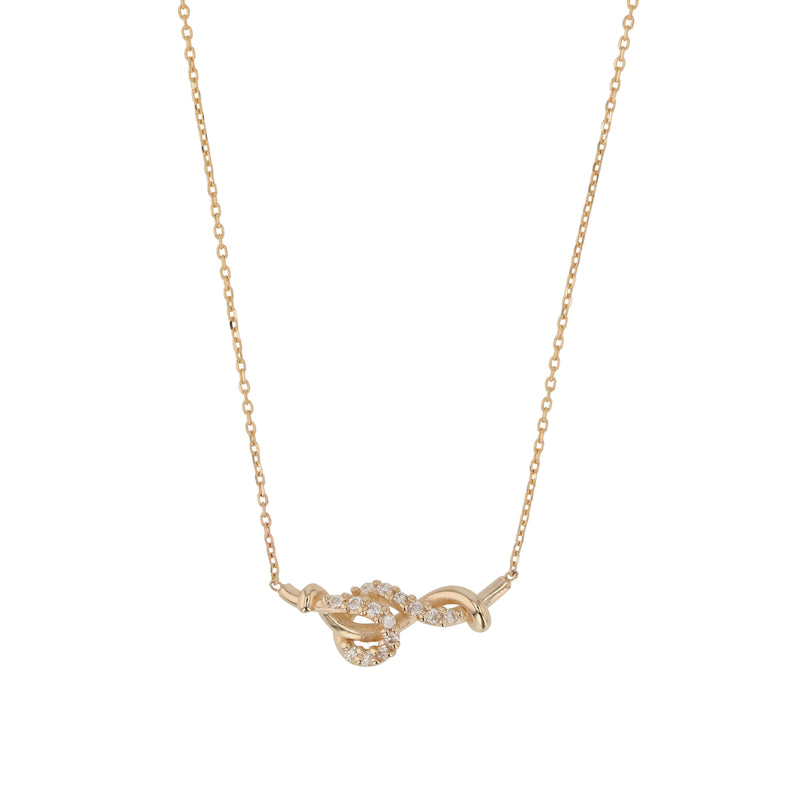 Fine Tendril Diamond Necklace Gold | Sarah & Sebastian