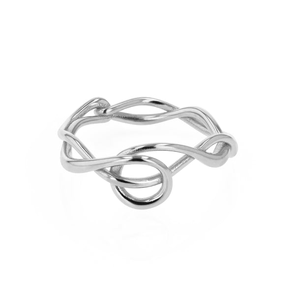 Fine Tendril Ring Silver | Sarah & Sebastian