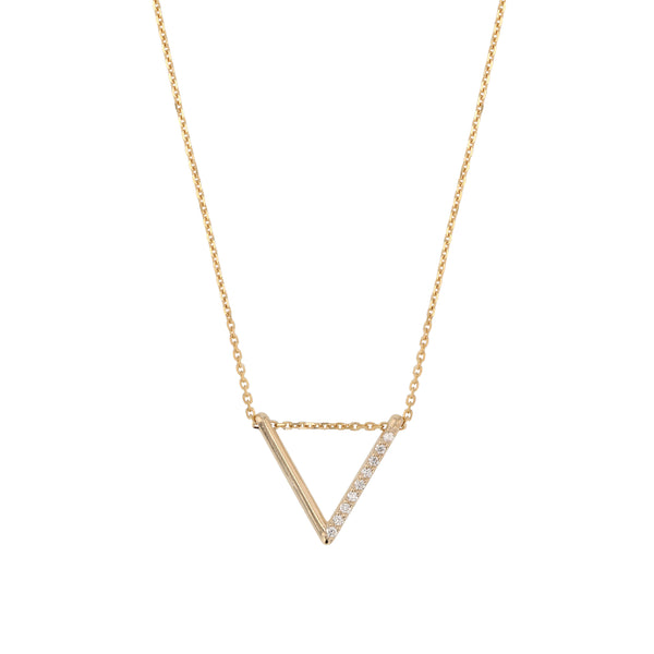 Triangle Diamond Thread Necklace Gold | Sarah & Sebastian