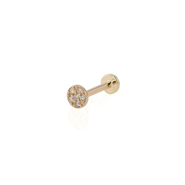Glitter Disc Cartilage Earring Gold | Sarah & Sebastian