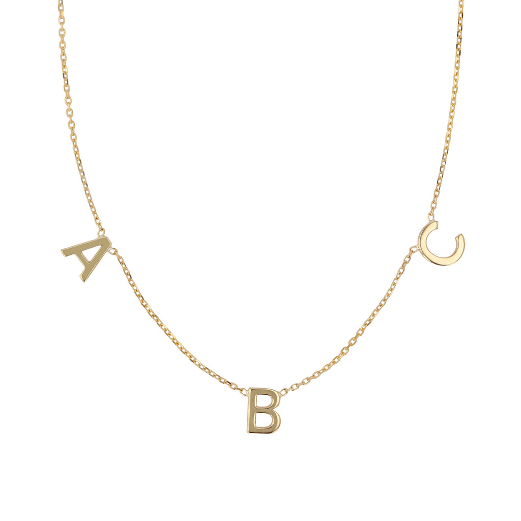 Triple Petite Letter Necklace