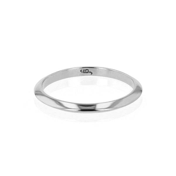 Wedding Band | Fine Knife White Gold | Sarah & Sebastian