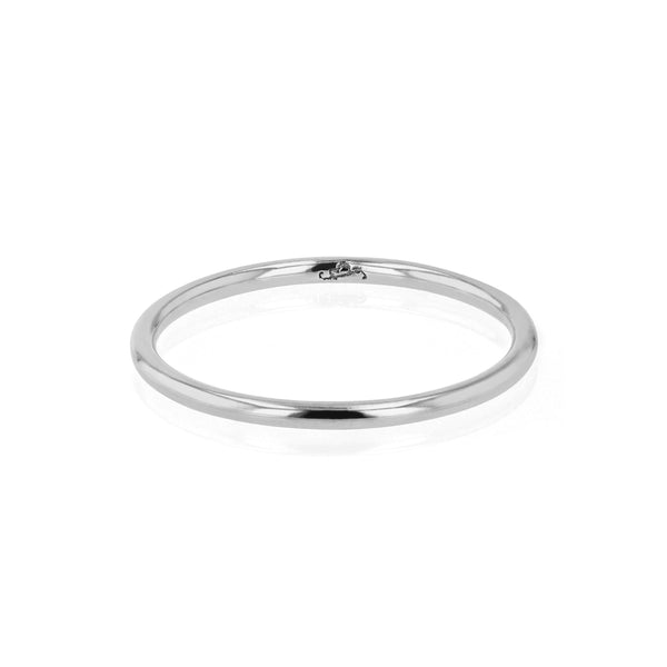 Wedding Band | Fine Round White Gold | Sarah & Sebastian