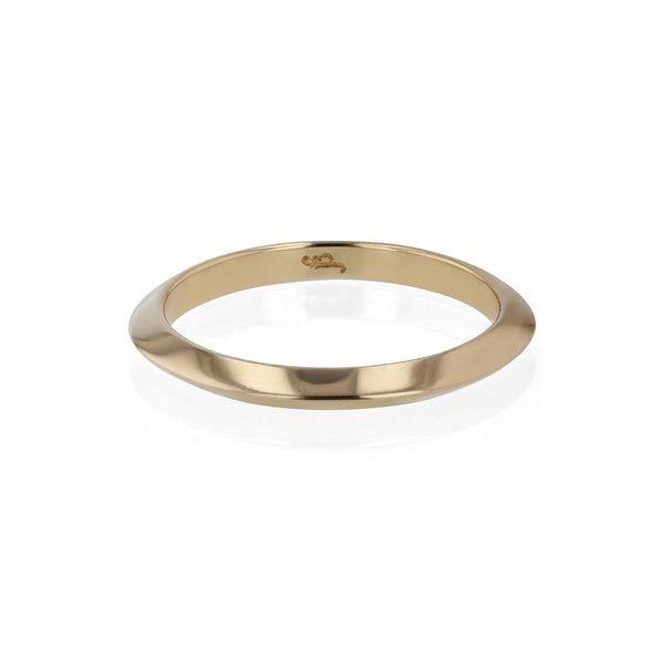 Wedding Band | Bold Knife Yellow Gold | Sarah & Sebastian