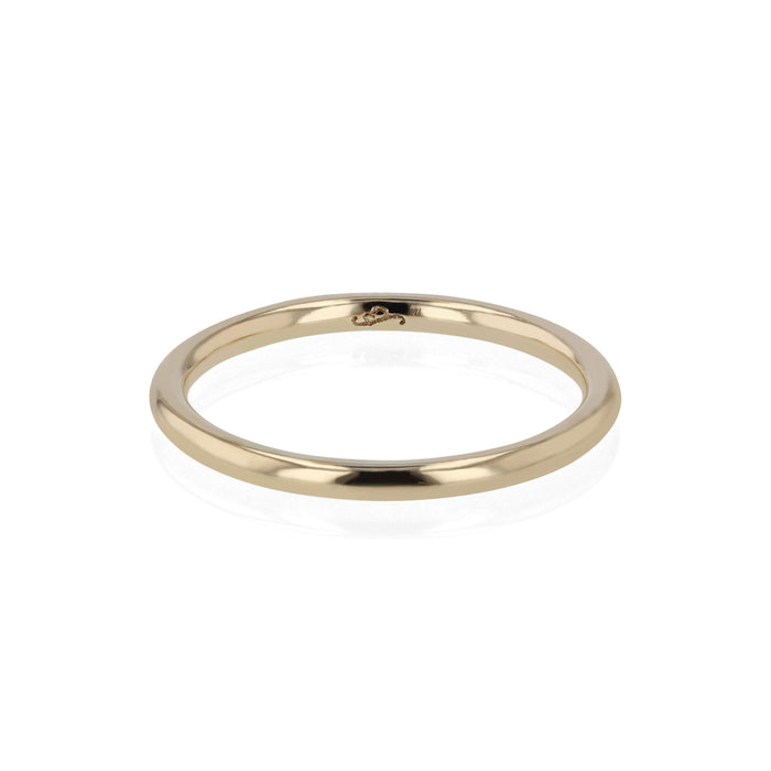 Wedding Band | Bold Round Yellow Gold | Sarah & Sebastian