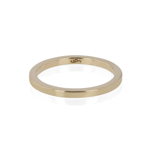 Wedding Band | Bold Square Yellow Gold | Sarah & Sebastian
