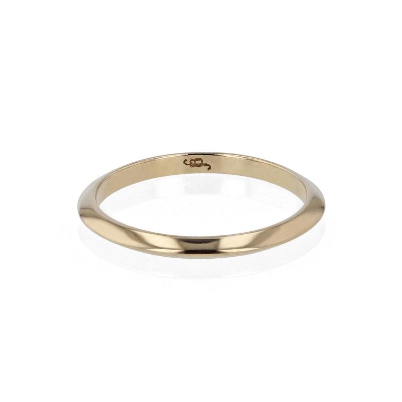 Wedding Band | Fine Knife Yellow Gold | Sarah & Sebastian