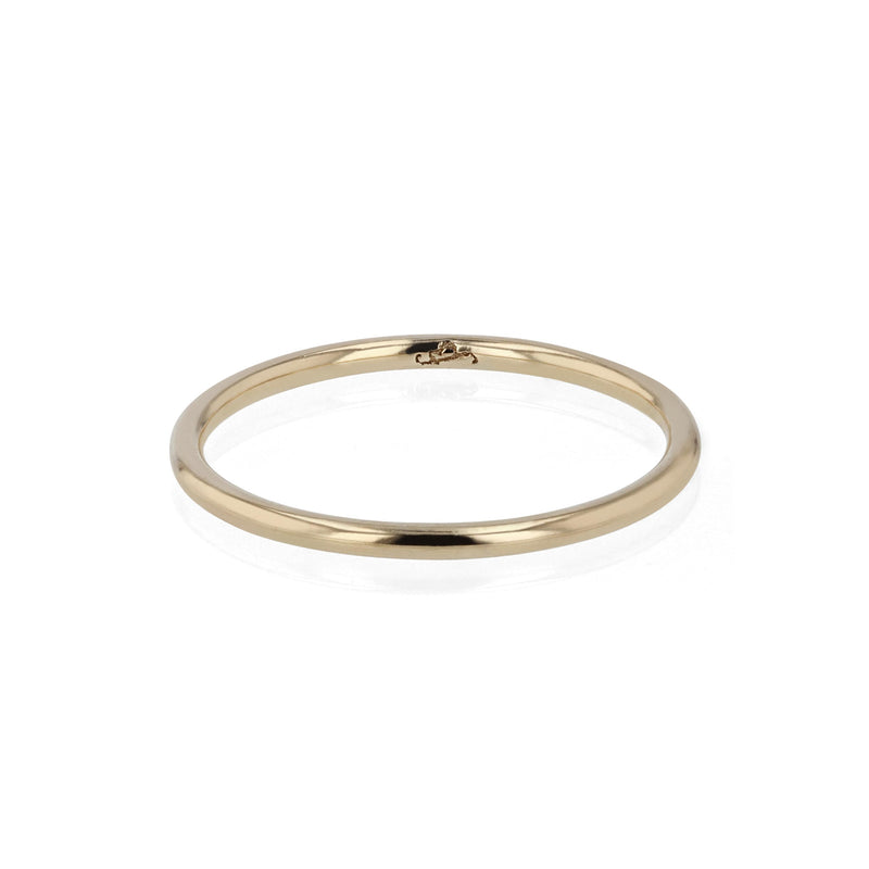 Wedding Band | Fine Round Yellow Gold | Sarah & Sebastian