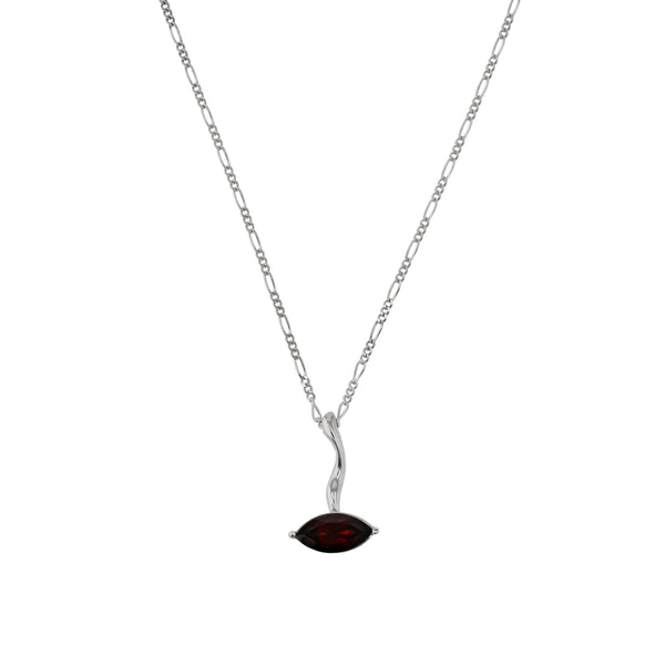 Winedark Form Necklace Silver | Sarah & Sebastian